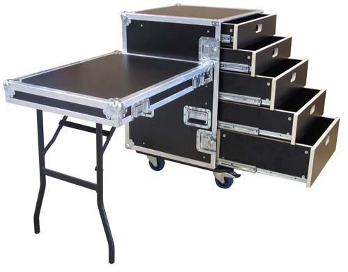 Flightcase met 5 laden van 500mm
